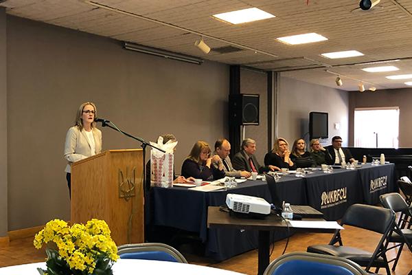 Ukrainian Selfreliance Federal Credit Union 2019 annual meeting with Madeleine Dean Congresswoman