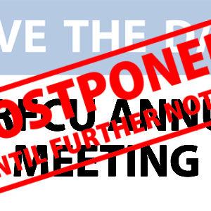 UKRFCU Annual Meeting – POSTPONED
