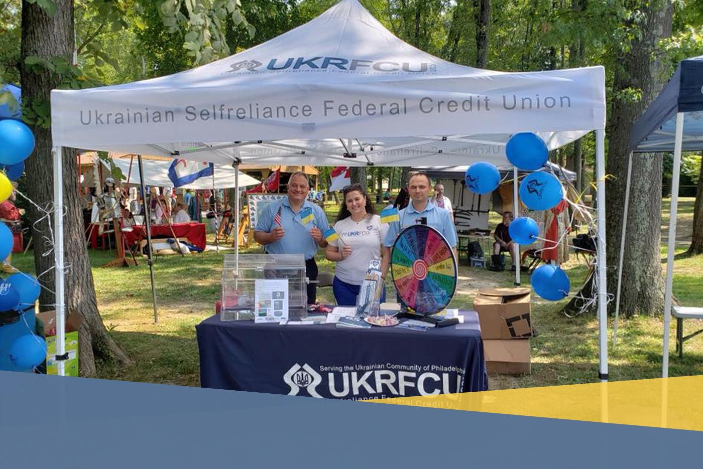community involvement - ukrfcu at tryzub festival
