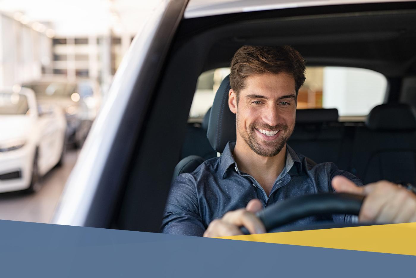 individual behind the wheel